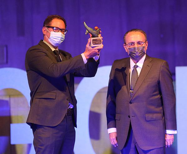Sergio Alarcón en la gala de Premios Aragoneses del Año